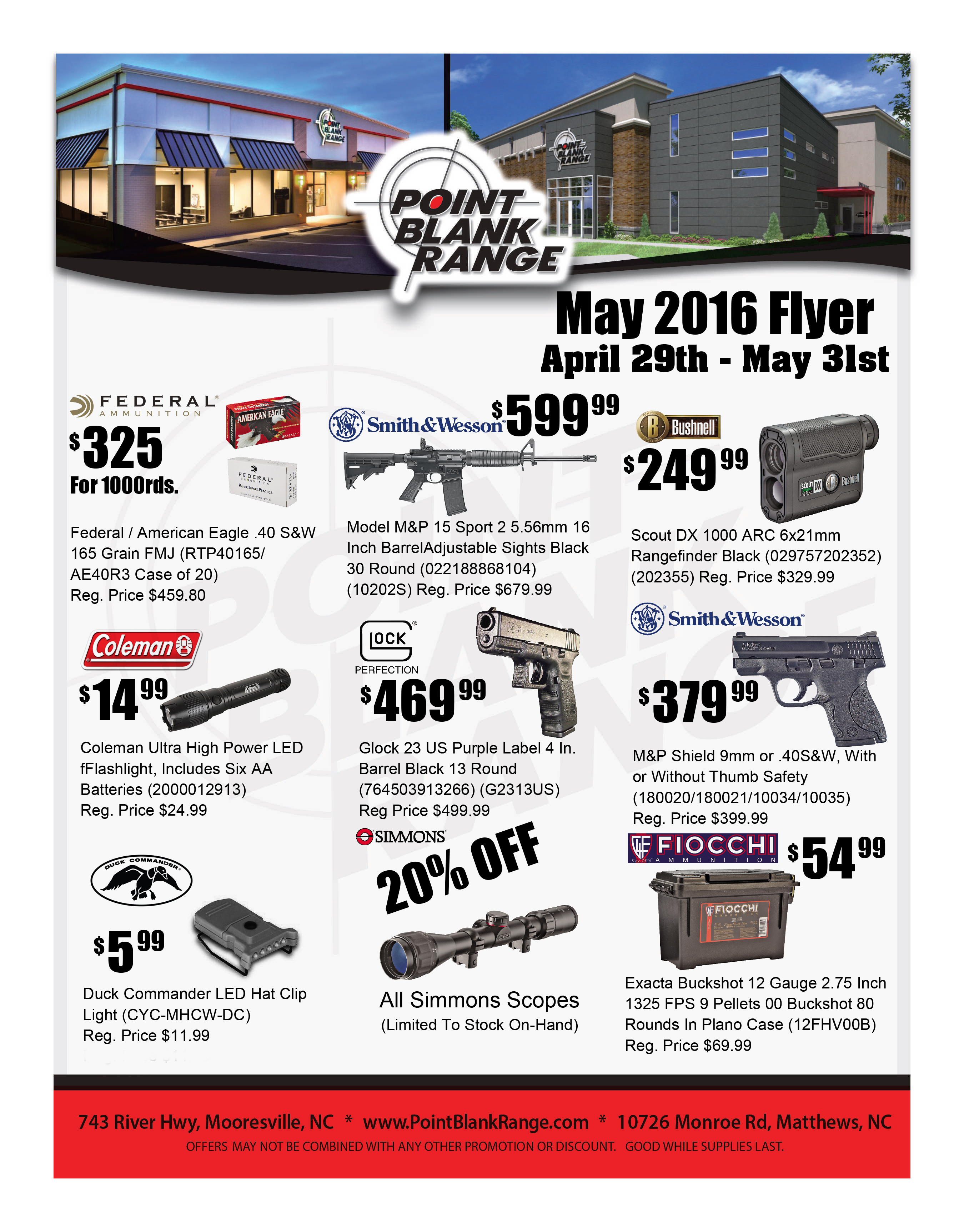 Sales Flyer for May 2016! - Point Blank Range
