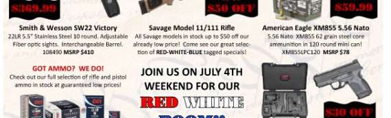 July Red White & Boom Sale!